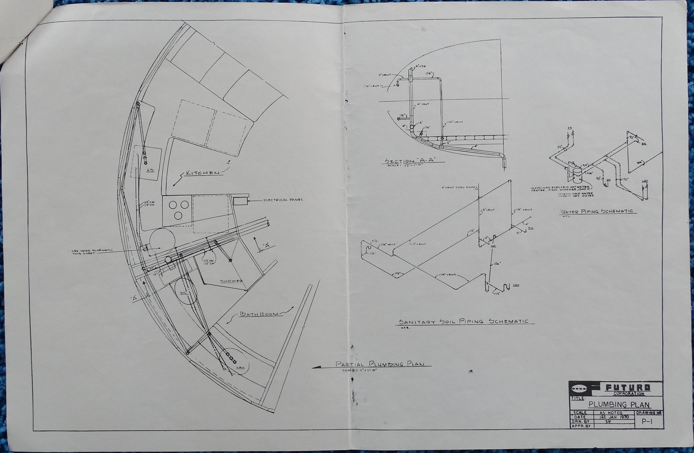 Futuro II - Plans - Plumbing Plan - P-1 - 010170