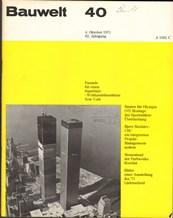 Bauwelt 40/1971 100471 Issue