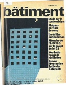 Batiment October 1972 - Cover