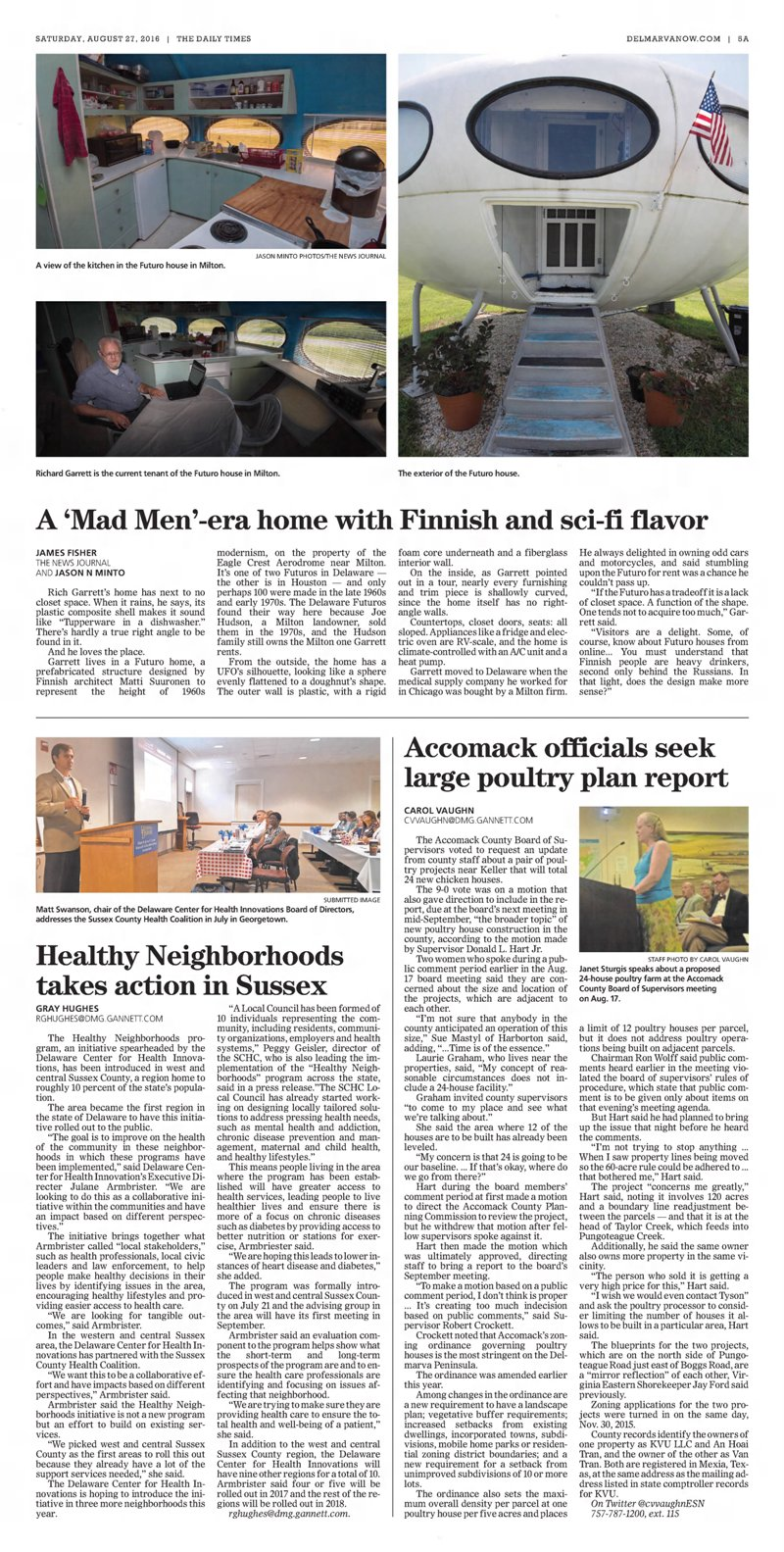 Futuro, Milton, DE, USA - The Daily Times 082716
