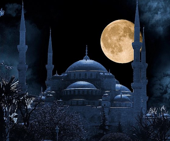 The Blue Mosque At Night - Ramy Alaa
