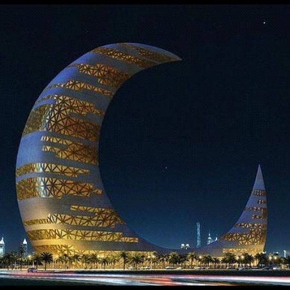 Crescent Moon Tower Dubai - Discover Earth Facebook Page