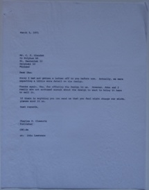 Futuro Corporation Of Colorado & Polykem Correspondence - Charles Cleworth To C.J. Olander - 030571