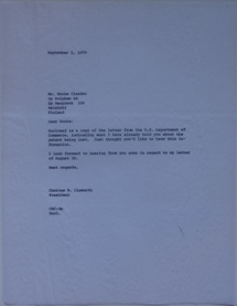 Futuro Corporation Of Colorado & Polykem Correspondence - Charles Cleworth To C.J. Olander - 090270