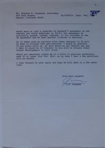Futuro Corporation Of Colorado & Polykem Correspondence - C.J. Olander To Charles Cleworth - 090770 - 2
