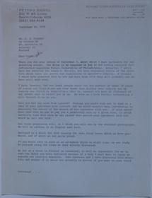 Futuro Corporation Of Colorado & Polykem Correspondence - Charles Cleworth To C.J Olander - 091870 - 1
