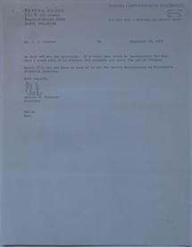 Futuro Corporation Of Colorado & Polykem Correspondence - Charles Cleworth To C.J Olander - 091870 - 2
