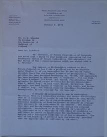 Letters | Neef, Swanson & Myer To Polykem | 100870 - 1
