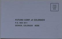 Futuro Corporation Of Colorado - Customer Interest Postcard - Front