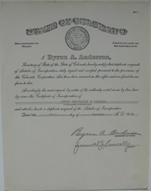 Futuro Corporation Of Colorado - Stock Offering Prospectus - Original Template Sheets - B