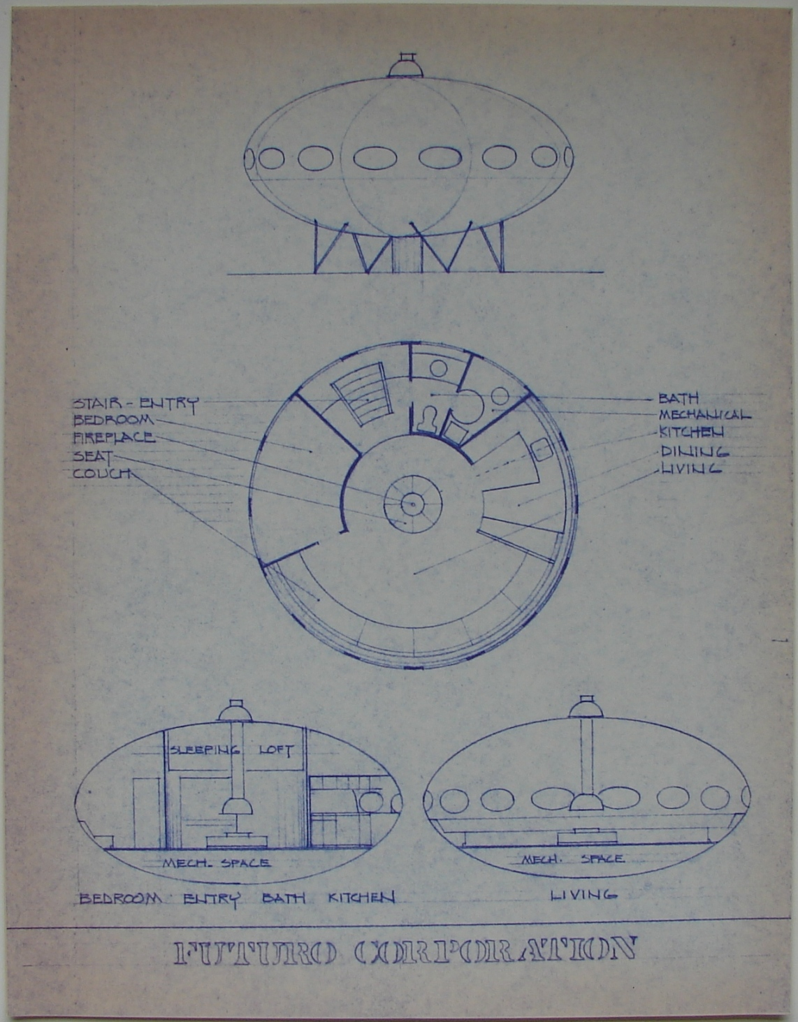 The Futuro House - The Charles Cleworth Archive - Drawings ...