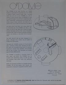 O'Dome Marketing Package Brochure 1 Back