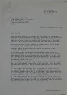 Futuro Corporation Of Colorado & Polykem Correspondence - C.J. Olander To Charles Cleworth - 100470 - 1