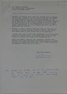 Futuro Corporation Of Colorado & Polykem Correspondence - C.J. Olander To Charles Cleworth - 100470 - 3