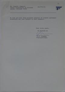 Futuro Corporation Of Colorado & Polykem Correspondence - C.J. Olander To Charles Cleworth - 100470 -2