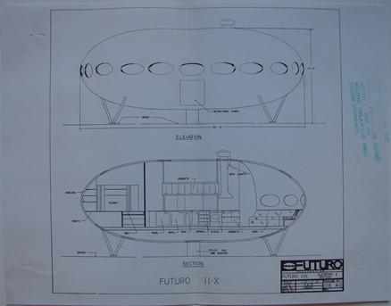 Architectural Plan - Futuro II-X - Elevation & Section