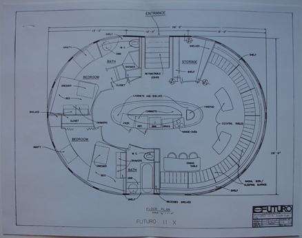 Architectural Plan - Futuro II-X - Floor Plan