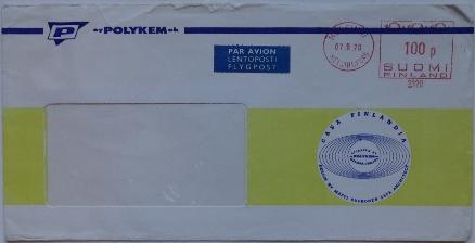 Polykem Air Mail Envelope | Used  | 090770
