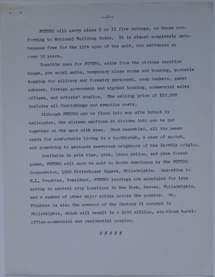 Press Release - Flying Saucers You Can Live In - Undated - 2