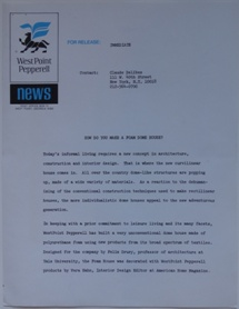 WestPoint Pepperell Press Release - How Do You Make A Foam Dome House? - Undated - 1