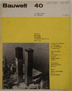 Bauwelt 40/71 100471 - Cover