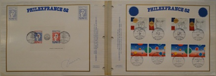PhilexFrance82 - French Stamps Presentation Folder