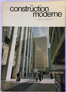 la Construction Moderne - Jan/Feb 1974 Issue - Cover