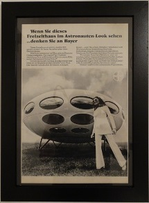 1970's Framed Bayer Magazine Advertisement