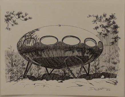 Danny Heller Drawing Of Idyllwild Futuro