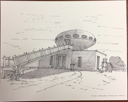 ike Shisler Drawing Of Pensacola Beach Futuro