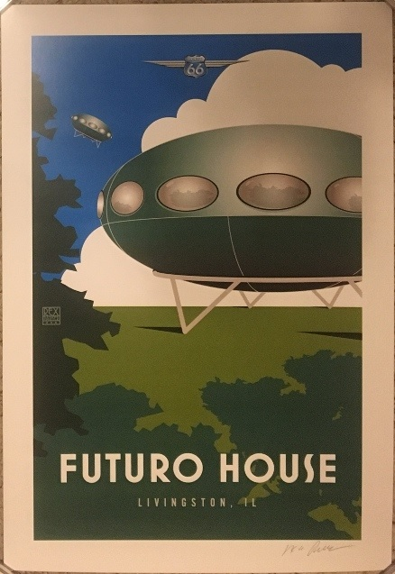 Livingston Futuro Poster By Rex Parker