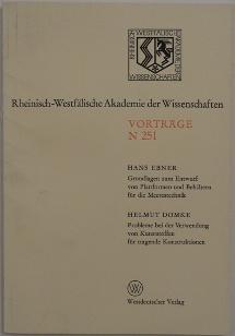Rheinisch-Westfalische Akademie der Wissenschaften - Cover