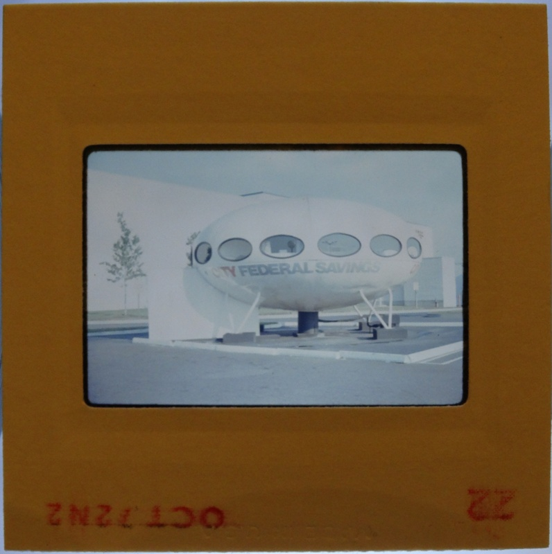 35mm Slide - Futuro Woodbridge Mall October 1972 - 15