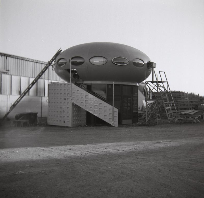 Futuro Two Story Variant - Polykem Plant - Ruotsinpyhtaa - 1977 - Unknown Photographer - Espoo City Museum Collection - 2