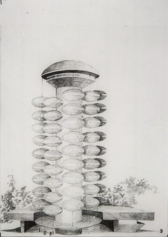 Futuro - Drawing - Unknwn Artist - Espoo City Museum Collection - 2