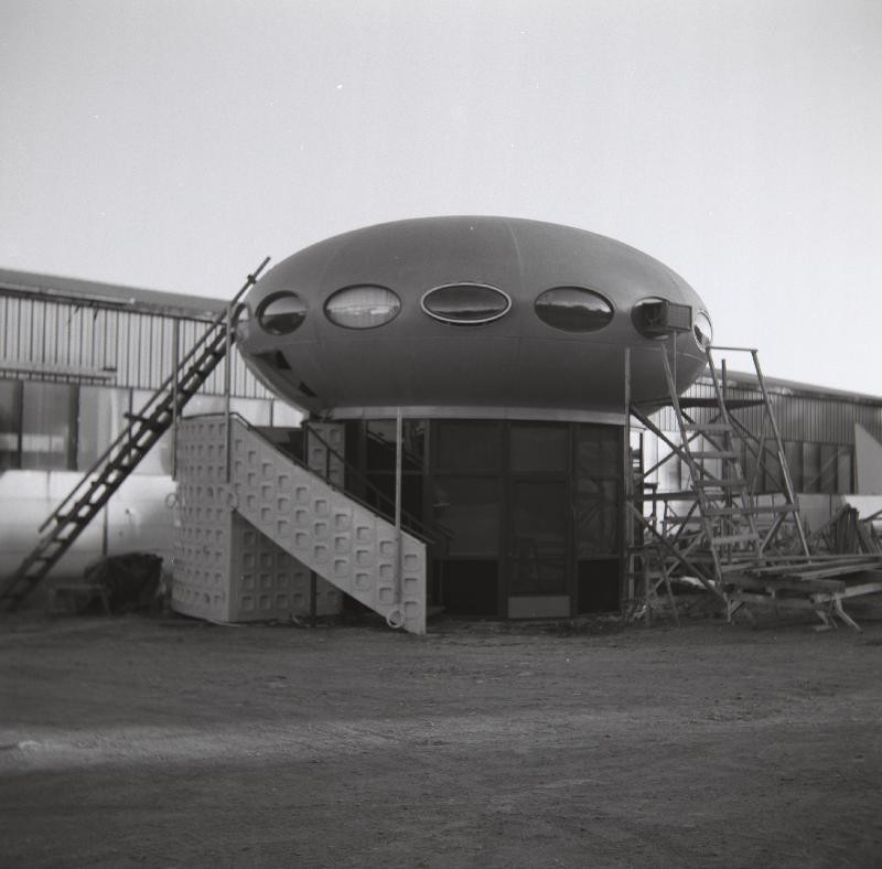 Futuro Two Story Variant - Polykem Plant - Ruotsinpyhtaa - 1977 - Unknown Photographer - Espoo City Museum Collection - 3