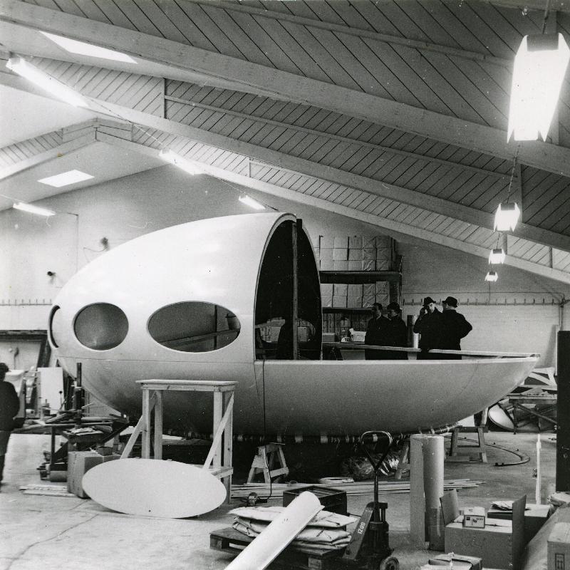 Futuro - Polykem Plant - 1968 - Hiekkaharju - Unknwn Photographer - Espoo City Museum Collection - 3