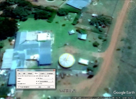 Futuro, Bloemfontein, South Africa - Google Earth Capture 021618 - Measurement