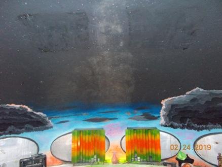 Futuro, Houston, DE, USA - Barney Vincelette Photo Dated 022419 - Interior Mural