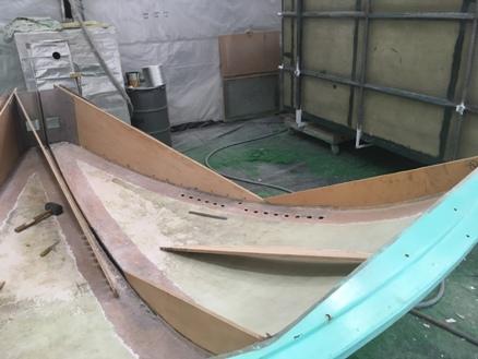 Tim Hoban - Base Section Undergoing Restoration Work August 2017