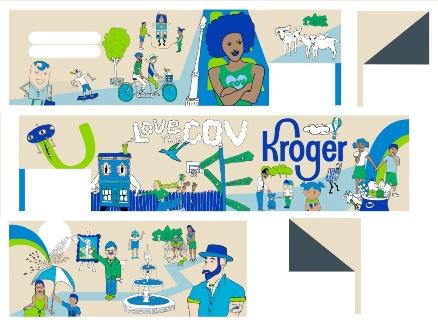 Kroger Mural - Jarrod Becker Artist Mock Ups 1