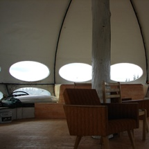 Futuro, Poytya, Finland - TheFuturoHouse July 2014 Visit To Poytya - Compare To oudosti Interior Shot