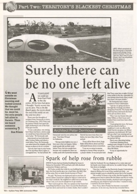 Cyclone Tracy : 30th Anniversary / Northern Territory News - December 2004 - 1
