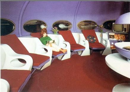 Three Futuro Bungalows In Belgium - Stock Photo For Seating Comparison