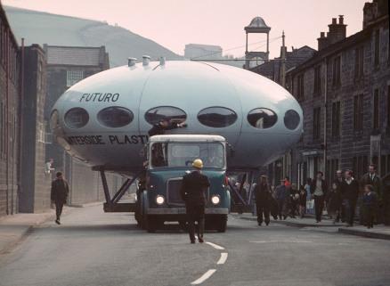 Waterside Platics Todmorden Futuro Transport 1971 - Daniel Birch