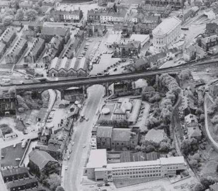 Waterside Platics Todmorden Futuro 1971 - Aerial Photo - Christian Baker