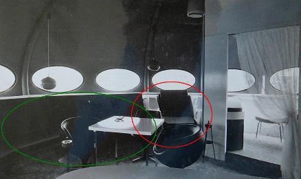 Three Futuro Bungalows In Belgium - Interior 3 Annotated