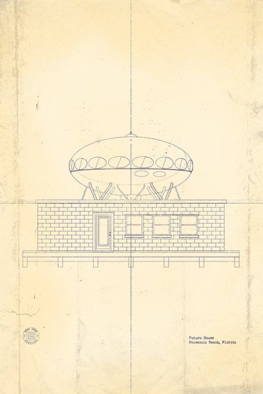 Futuro Beach House Blueprint - ChrisBoganCreative