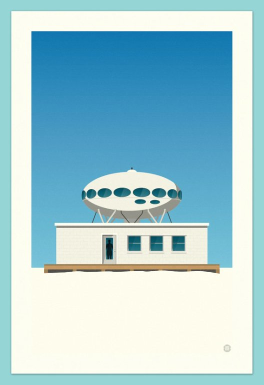 Space Saucer Beach House - ChrisBoganCreative