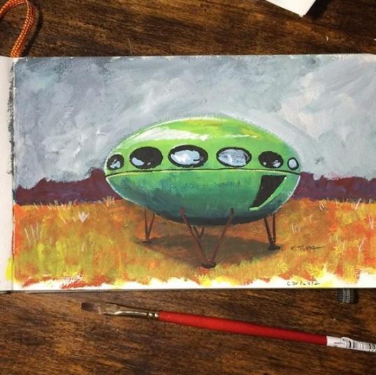 Futuro Painting - artofctupa
